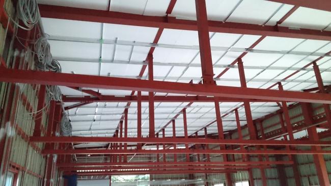写真:EPS断熱材 施工例(天井)