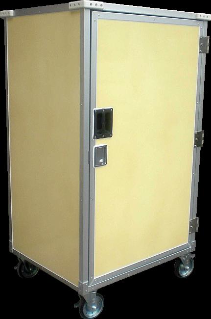 写真:イーコンテナ前開きタイプ 扉を閉じたところ