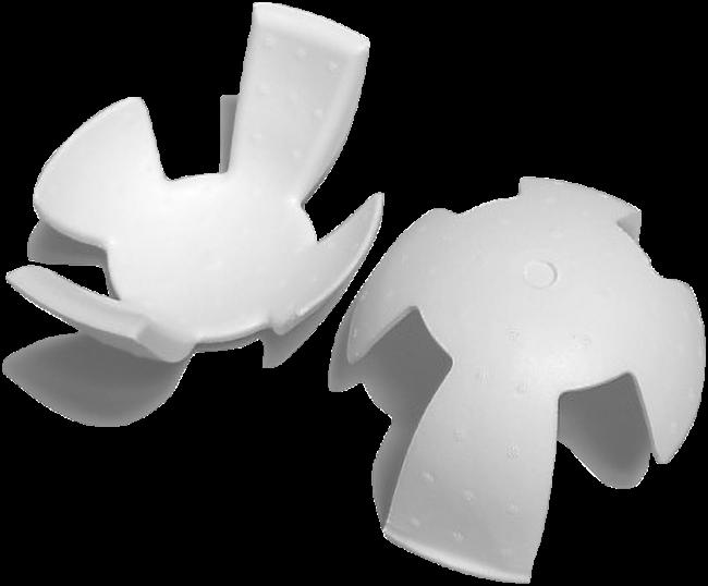 写真:発泡スチロールヘルメット用衝撃吸収材